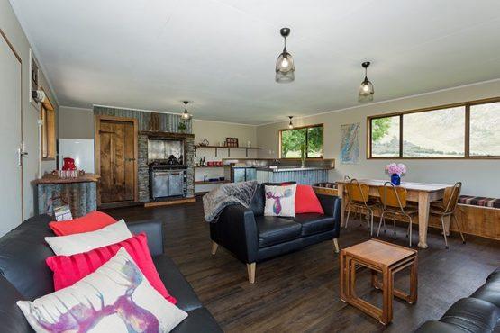 kitchen area Wanaka Accommodation at Discover Dingleburn Station 555x370 - Accommodation